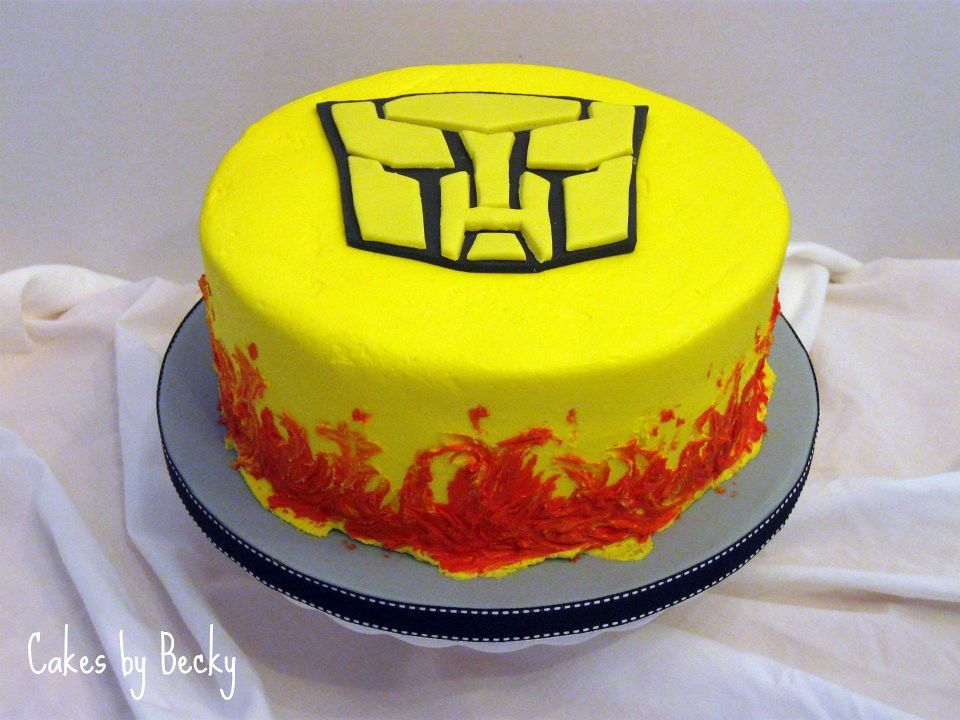 Cool Transformers Birthday Cake Vanilla Buttermilk Cake With Va Flickr Personalised Birthday Cards Paralily Jamesorg