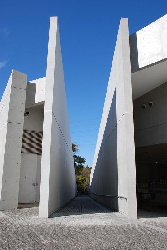 近つ飛鳥博物館 (Chikatsu-Atsuka Museum) Kanan-cho, Minami-Kawachi-gun, Osaka-fu, by Tadao Ando (安藤忠雄)