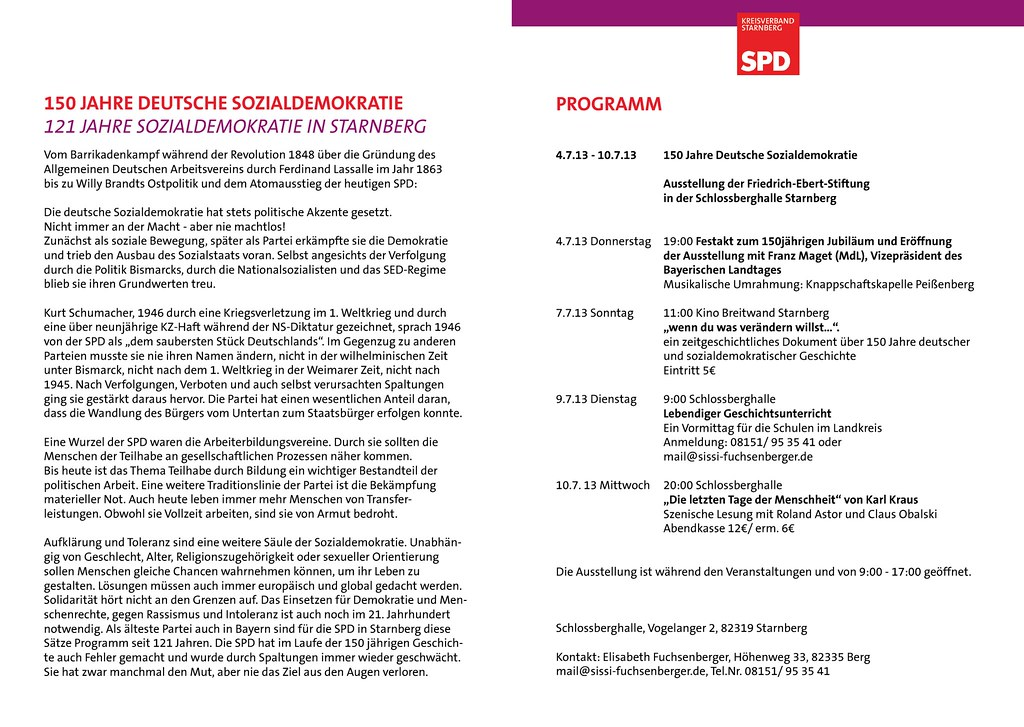 150 Jahre deutsche Sozialdemokratie in der Starnberger Schlossberhalle - Seite 2