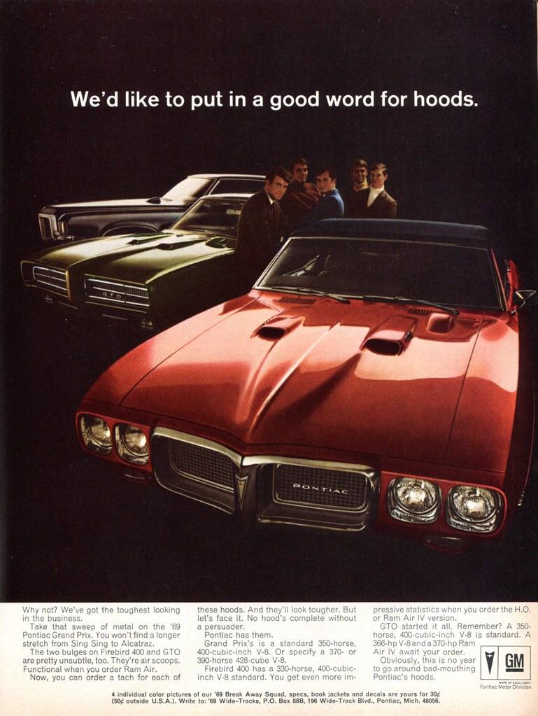 1969 Pontiac Firebird 400 GTO Gran Prix Advertising Hot Ro… | Flickr