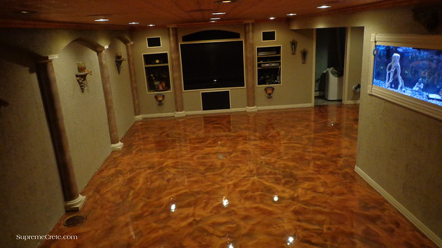 Metallic Marble Basement