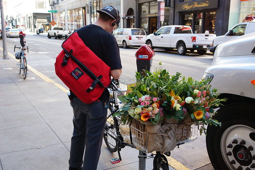 Flower delivery by bike in San Francisco | by dionhinchcliffe