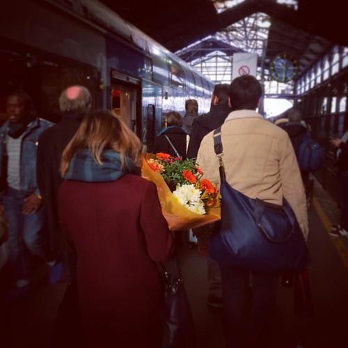 Des 💐 pour #LeonardCohen ? #Paris #Saintlazare #RouenParisRouen #sncf #train #tw