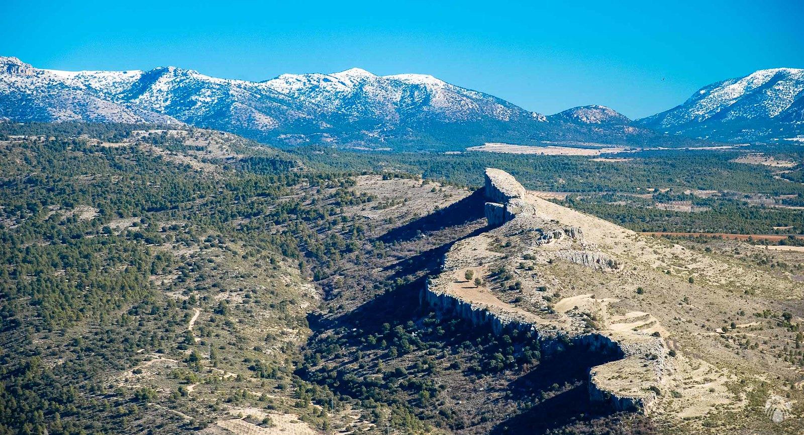 Mirando hacia la Sierra de las Cabras y Taibilla