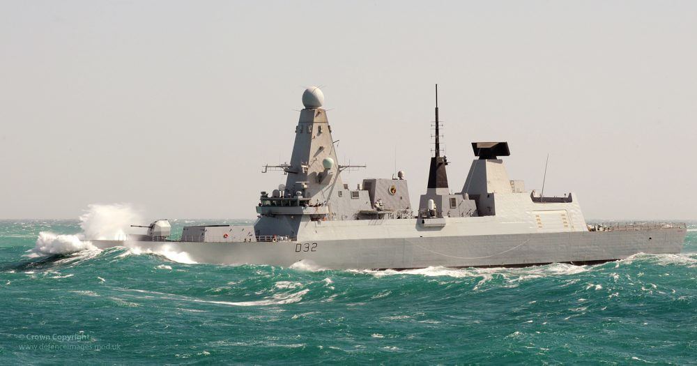 Type 45 Destroyer HMS Daring in Heavy Seas