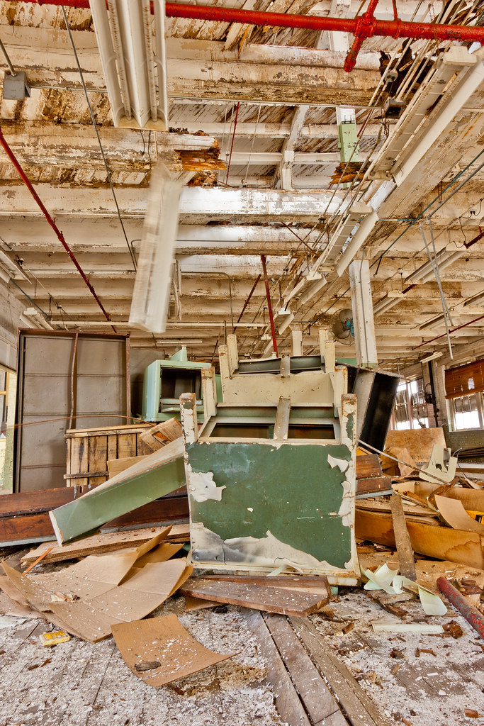 Furniture Falling Through A Hole In The Ceiling Abandoned