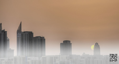 sunset weather fog skyline architecture marina buildings dubai cityscape dusk uae tone hdr highdynamicrange tecom