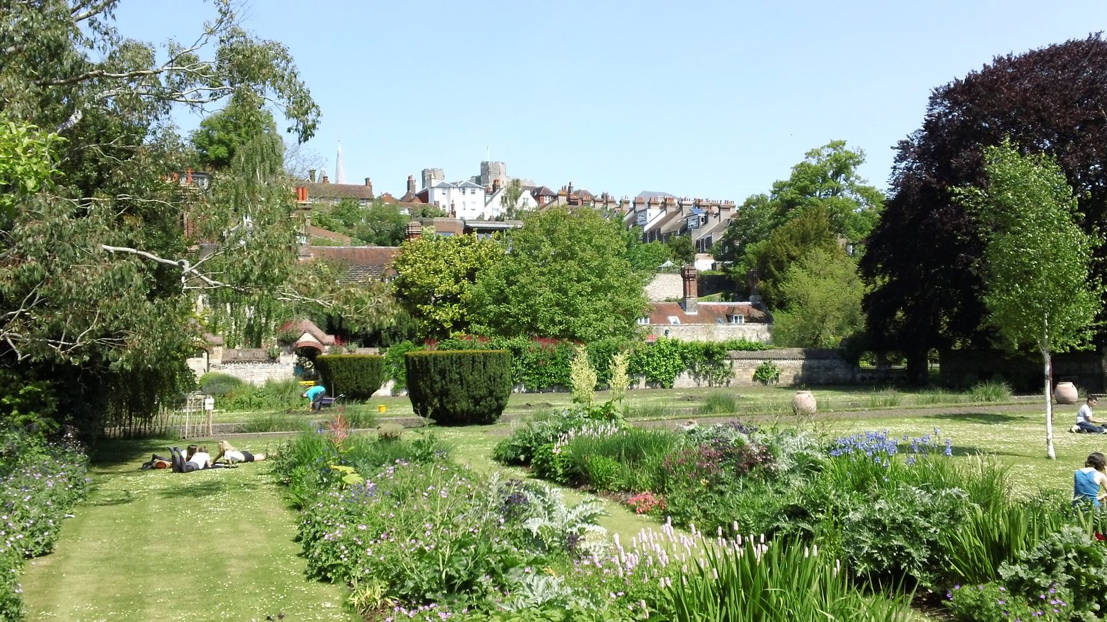 Saturday Walkers Club walk from Lewes, East Sussex to Rottingdean Southover Grange Gardens, Lewes, East Sussex