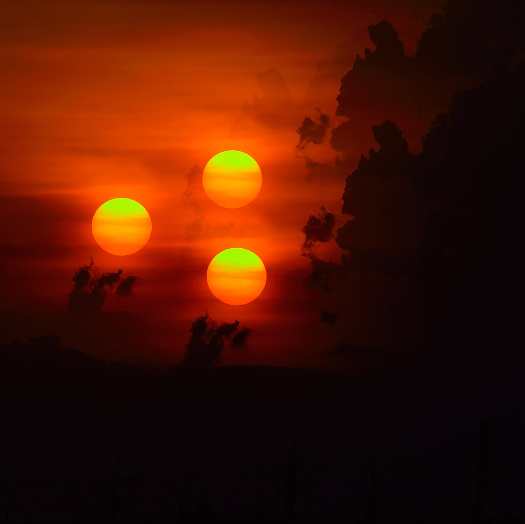 Three Suns In The Sky
