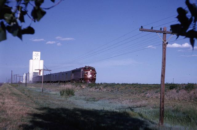 061263 03A East of Amarillo Tx Rock Island Passenger train WJA
