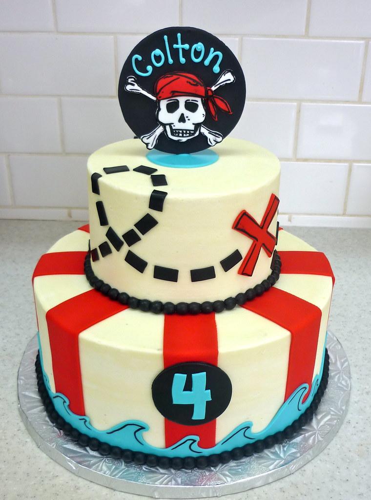 Enjoyable Pirate Birthday Cake Coco Cake Co Flickr Birthday Cards Printable Inklcafe Filternl