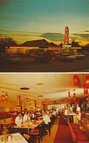 vintage neon texas dusk postcard kenedy dualview