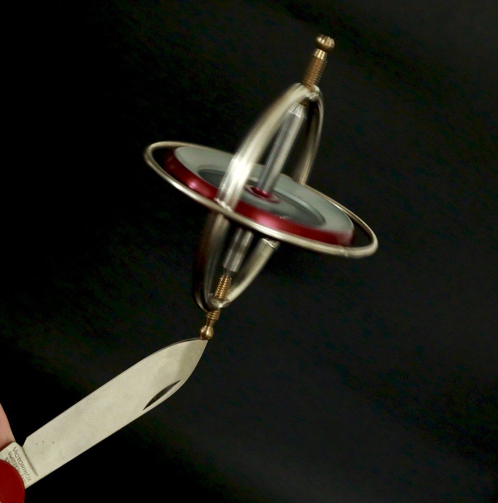 Image result for gyroscope balancing on pen