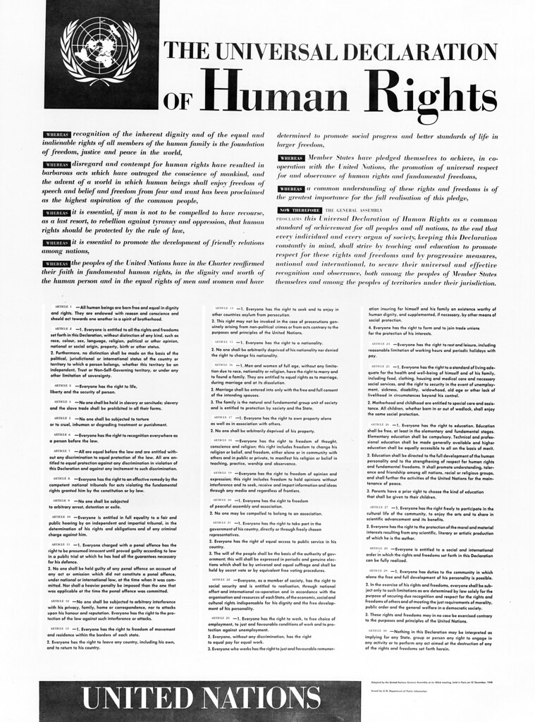 Universal Declaration of Human Rights | A copy of the Univer… | Flickr