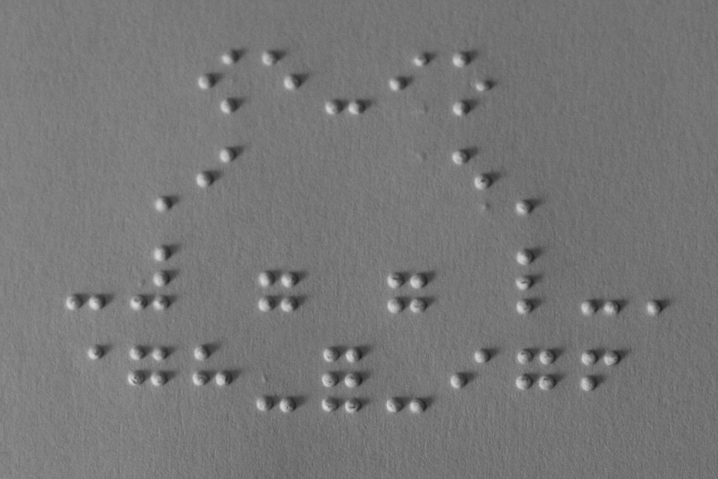 Braille art: Feel it, see it | A quick Braille drawing of a
