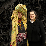 Artist Chakaia Booker and NMWA Director Susan Fisher Sterling