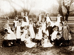 Pupils from the Church of England Day School, Willunga, ca 1896.