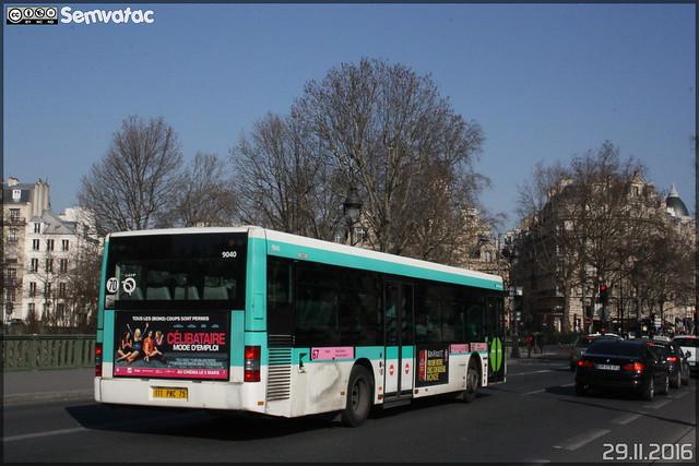 Man NL 223 - RATP (Régie Autonome des Transports Parisiens) / STIF (Syndicat des Transports d'Île-de-France) n°9040
