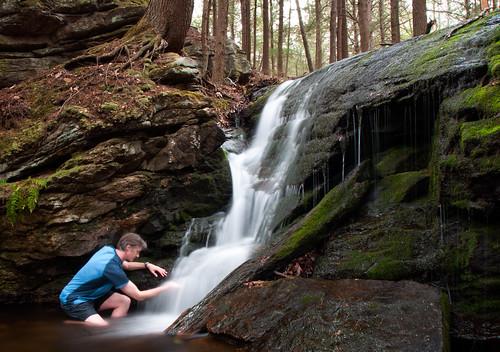 self waterfall spring stream being massachusetts brook cascade elemental tactile pioneervalley hopbrook waterfalling humantouch hollandglen mmtrail pelhamhills