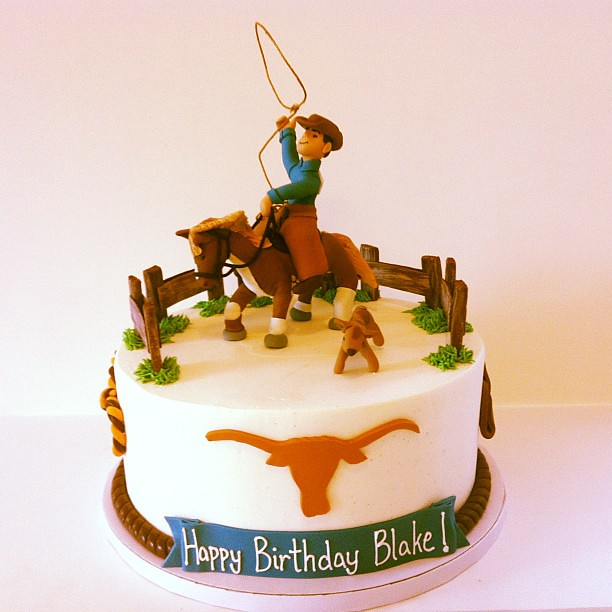Pleasant Cowboy Birthday Cake Polkadots Olga Flickr Funny Birthday Cards Online Aboleapandamsfinfo