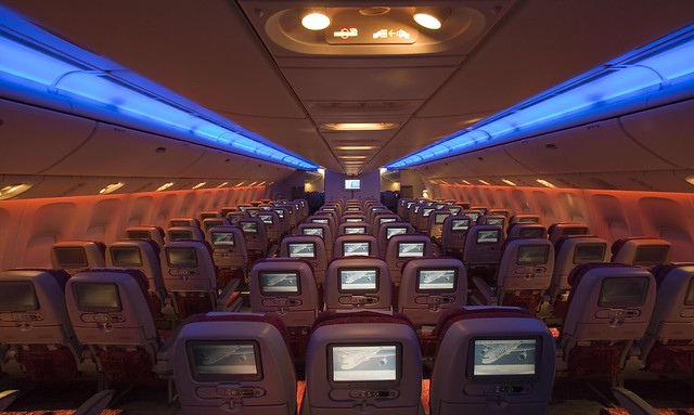 Pic 27 Qatar Airways' Boeing 777-200LR Economy Class