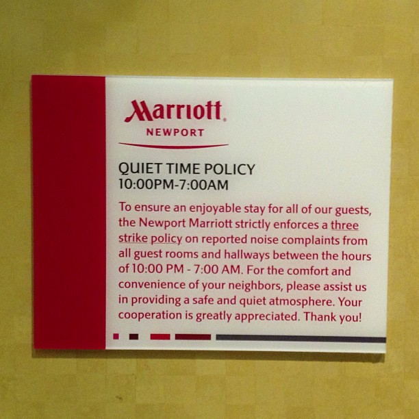 I feel like if your hotel tells you about the quiet time p… | Flickr