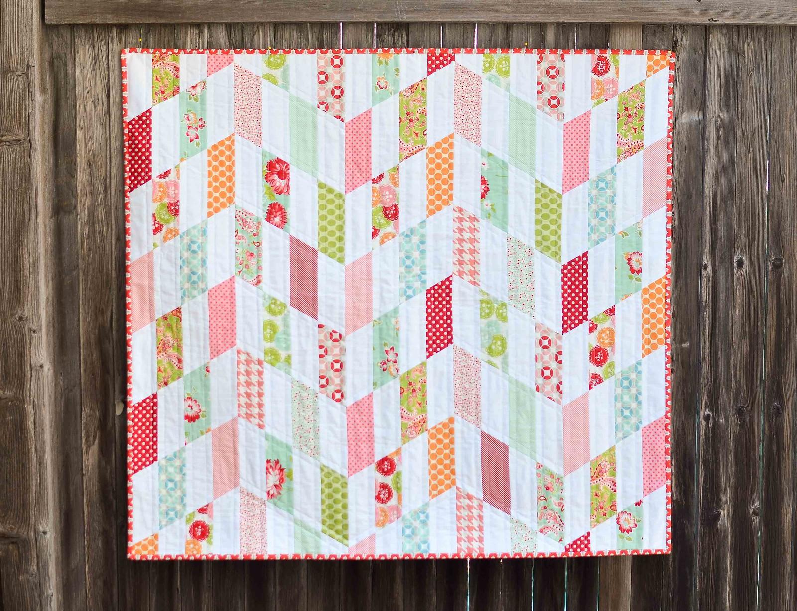 striped chevron quilt