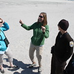 USFWS Northeast Regional Director Wendi Weber and other partners at Stone Harbor Point restoration project tour (NJ)