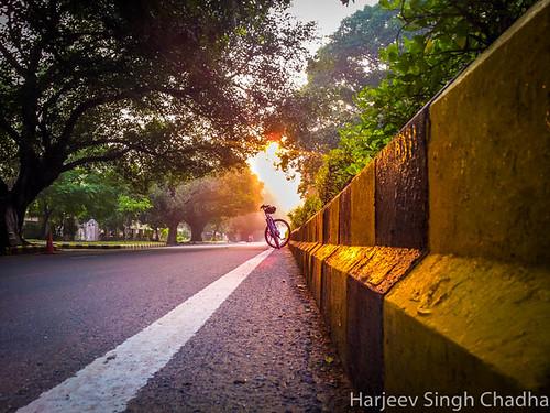 road india sunrise golden phone delhi samsung note galaxy cycle newdelhi lutyens