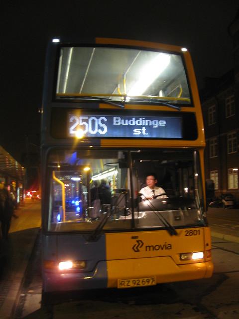 East Lancs Volvo B7TL City Trafik 2801 RZ92697 final night of double deckers on normal Copenhagen routes 2012