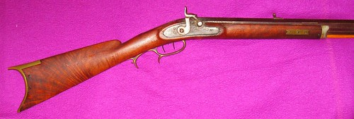 Walnut Halfstock Percussion Rifle - Made By Jake Ramey, Bloomington, Illinois