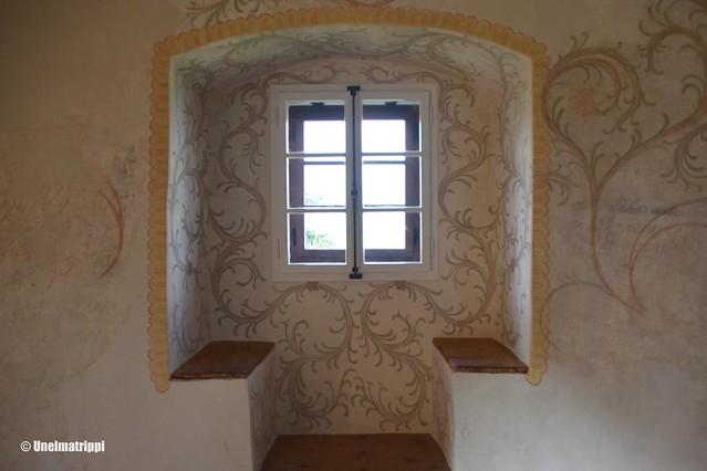 Ikkunasyvennys Bledin linnassa