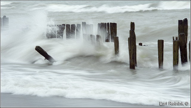 Erie storm - slow shutter speed