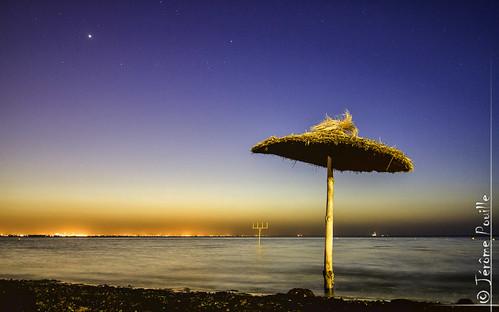 beach night digital umbrella photography nightscape tn dri hdr tunisie blending monastir