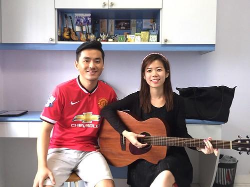 Private guitar lessons Singapore Winnie
