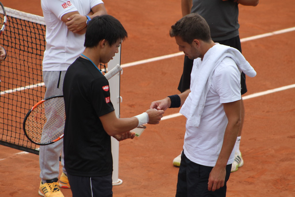 Kei Nishikori and Paul Henri Matthieu
