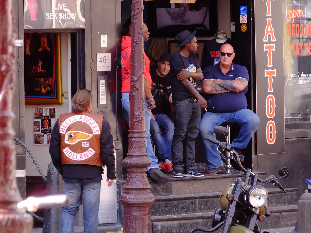 Just chilling    | Hell's Angels Bar Excalibur, Red Light Di… | Flickr