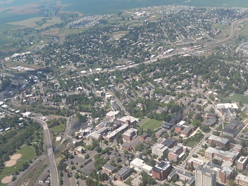 Pullman, WA from the air   by Dai Lygad