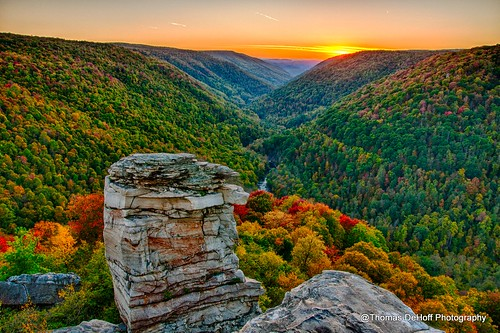 lindy point blackwater falls state park sunset west virginia sony a700 hdr