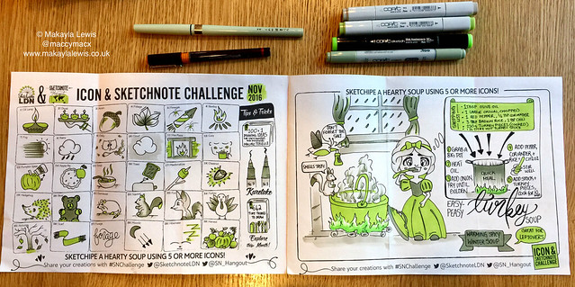 #TodaysDoodle (No. 558) Icon & Sketchnote Challenge November 2016
