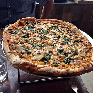 Good times today catching up with @donsteele over macrobiotic pizza | by David Berkowitz