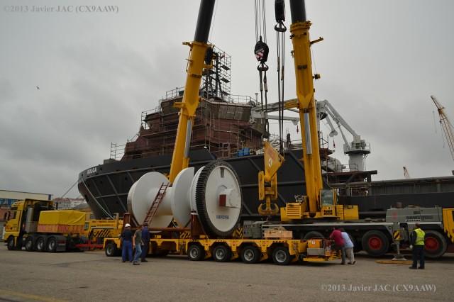 instalacion de maquinillas gigantes de Ibercisa