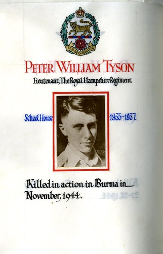 Tyson, Peter William (1921-1944) | by sherborneschoolarchives
