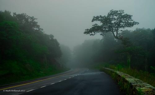 road mountains fog landscape dawn virginia woods nikon country curves shenandoah