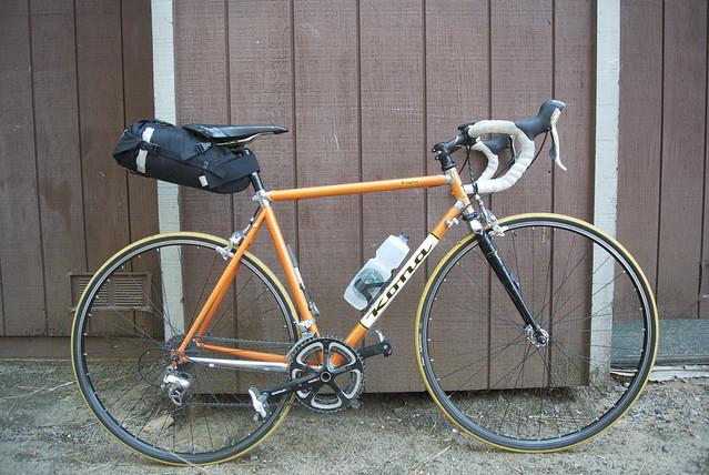 Basden's Kona with small saddlebag mounted