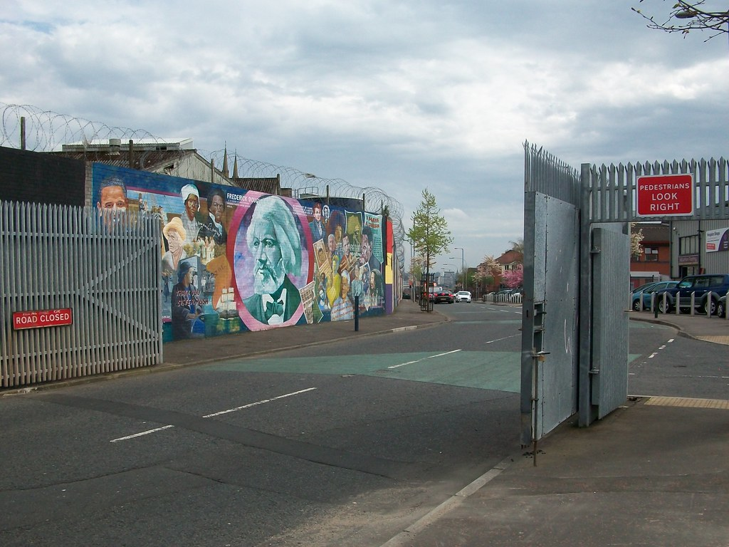 Peace wall gates, Shankill / Falls Road interface, West Be