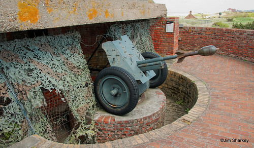 Gun on Hitlers Atlantic wall Ostend Belgium