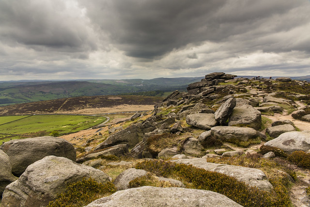Clouds On The Edge, Stanage Edge, Peak District
