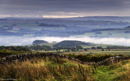 landscape steelrigg hadrianswall scenery northumberland northeastengland countryside mistycloud outdoors nikond5