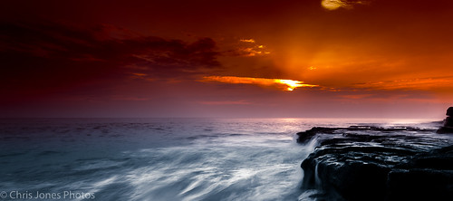 sunset sea red sky seascape southerndown southwales storm canon coast clouds rocks rockpool dunraven epic eos
